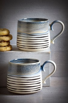 Set of 2 Reactive Glaze Mugs