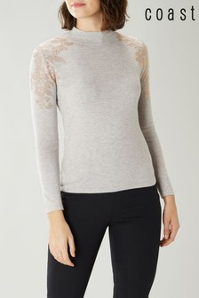 Coast Grey Lulu Embellished Knit Top