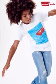 Levi's® Kids White Pool Graphic T-Shirt