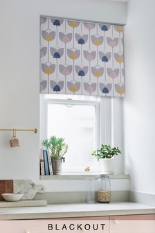 Retro Tulip Blackout Roller Blind