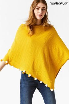 White Stuff Yellow Savannah Summer Poncho