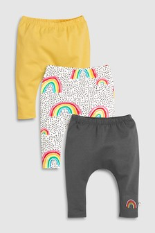 Rainbow Leggings Three Pack (0mths-2yrs)