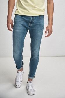 Стретчевые джинсы из мягкой саржи