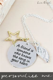 Personalised A Friend Is Someone Necklace By Lisa Angel