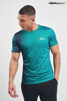 Superdry Blue Ombre Sports Top
