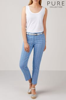 Pure Collection Blue Stretch Trouser