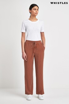 Whistles Rust Wide Leg Trousers