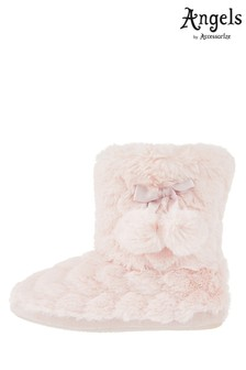 Angels by Accessorize Pink Heart Super Soft Slipper Boot