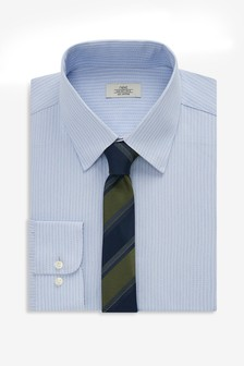 Stripe Shirt And Tie Set