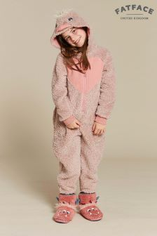FatFace Pink Elsie Emu Fleece All-In-One