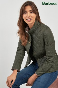 Barbour® Khaki Evelyn Quilted Jacket