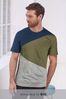 T-shirt a blocchi di colore