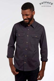 FatFace Charcoal Twill Worker Shirt