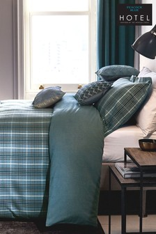 Peacock Blue Brushed Cotton Hotel Valloire Duvet Cover