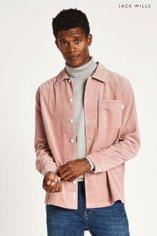 Jack Wills Pink Berton Cord Overshirt
