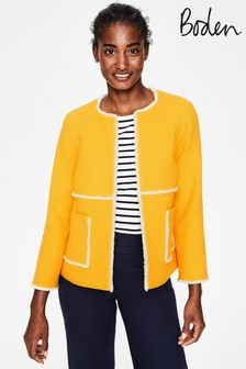 Boden Yellow Ida Textured Jacket