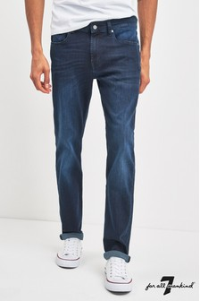 7 For All Mankind® Dark Blue Slim Fit Jeans