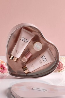 Just Pink Heart Shaped Gift Set