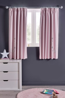 Butterfly Embellished Pencil Pleat Curtains