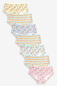 7 Pack Unicorn Character Stripe Hipster Briefs (2-16yrs)