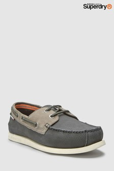 Superdry Black Leather Shoes