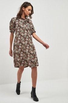 Sukienka z wiązaniem pod szyją Floral