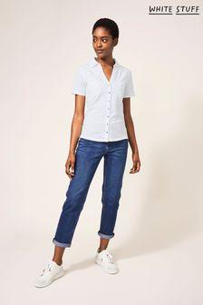 White Stuff White Penny Pocket Jersey Shirt