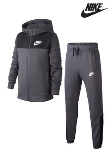 2c6e4d6dad93 Nike Grey Poly Tracksuit