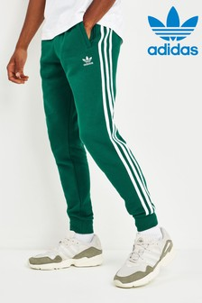 adidas Originals Green 3 Stripe Joggers