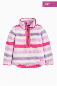 Joules Mauve Stripe Merridie Half Zip Sweater