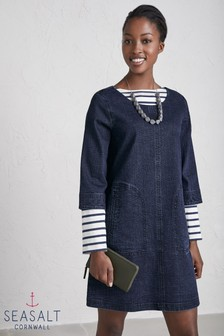 Seasalt Blue Redinnick Dress Dark Wash