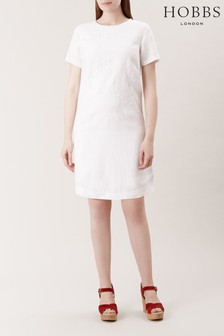 Hobbs White Eleni Dress