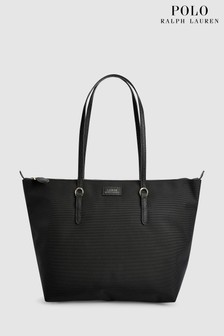 Polo Ralph Lauren® Black Nylon Shopper Bag