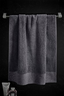 Diamanté Trim Towel