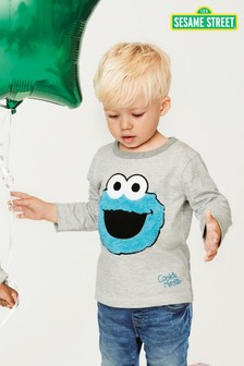 Long Sleeve Cookie Monster T-Shirt (3mths-6yrs)
