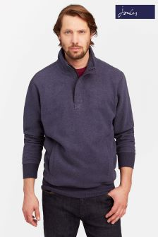 Joules Blue Half Zip Sweat Top