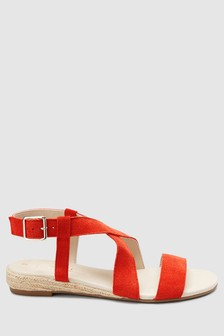 Forever Comfort® Low Wedge Twist Sandals
