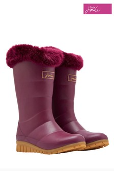 Joules Damson Tall Padded Welly