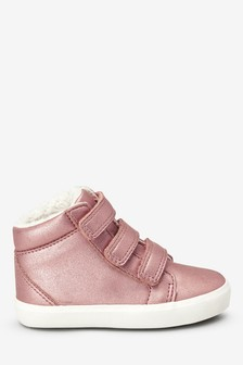 Warm Lined Touch Fastening High Tops (Younger)
