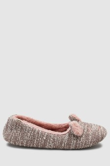 Chaussons ballerines motif ours