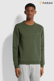 Farah Blue Tim Crew Neck Sweatshirt