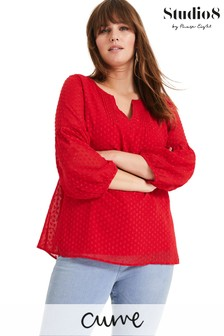 Studio 8 Red Maud Textured Top