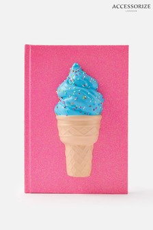Accessorize Pink Ice Cream Squishy Notebook