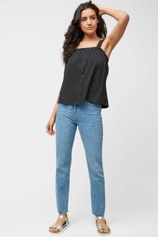 Knöchellange Jeans mit geradem Bein