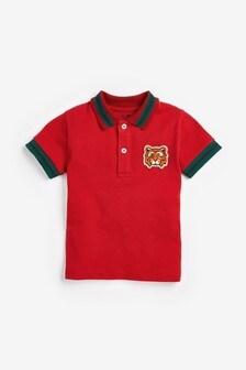 Tiger Short Sleeve Poloshirt (3mths-7yrs)