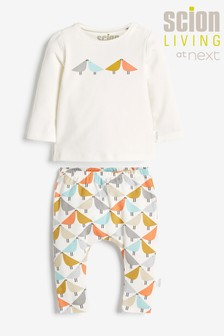 Scion Exclusively to Next White Two Piece T-Shirt And Legging Set (0mths-2yrs)
