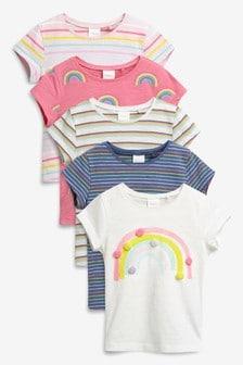Пять футболок с коротким рукавом (3 мес.-7 лет)