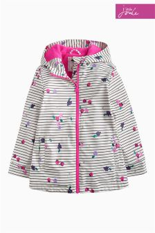 Joules Berry Stripe Raindance Waterproof Rubber Coat
