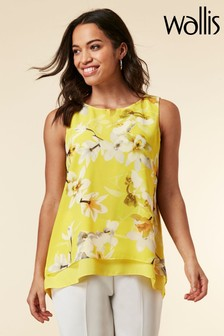 Wallis Yellow Orchid Double Layer Top