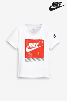Nike Air Little Kids White Box Logo Tee
